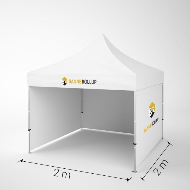 cort pavilion personalizat 2x2m pret banner-rollup